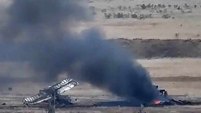 亞美尼亞擊落亞塞拜然AN-2的殘骸。(圖/defence-blog)
