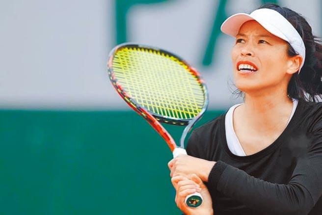 謝淑薇在阿布達比女網賽止步單打32強,但好球連連令主播驚呼不已。(資料照片/WTA官網翻攝)