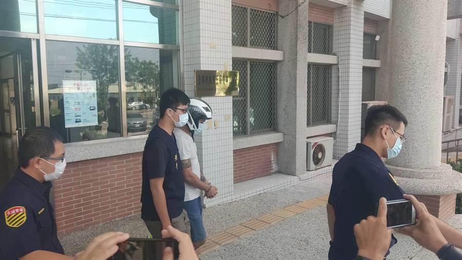 台南市新市區凌晨發生槍擊案,開槍的吳姓男子早上近10點已被善化警方逮捕。(台南市善化警分局提供/劉秀芬台南傳真)