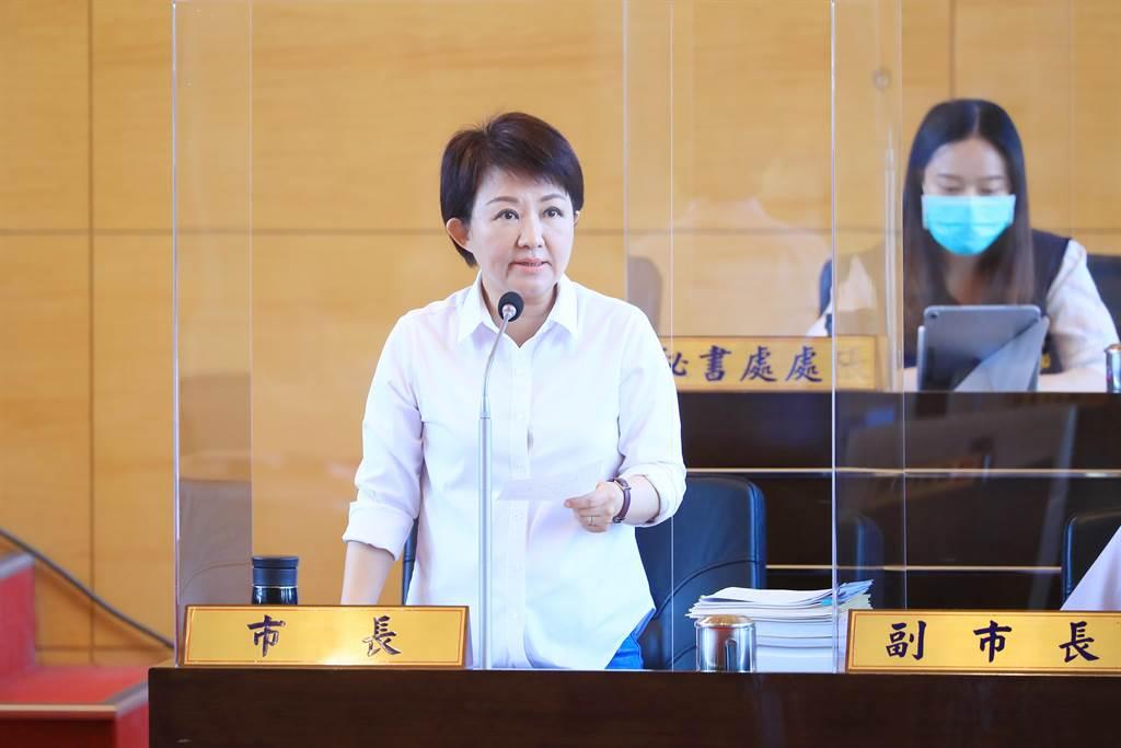 市長盧秀燕強調,為保障市民安全,市府將比照台北市設定的級數,研議向中央氣象局提出申請。(陳世宗攝)