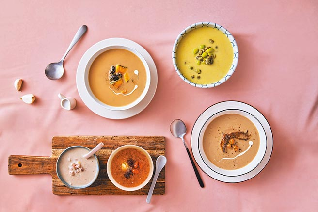 桂冠跨足健康營養領域,首開先例跨界與陽明大學成立「桂冠營養研究室」,並於2019年首波推出六種「美味‧健力湯」系列湯品。圖/業者提供