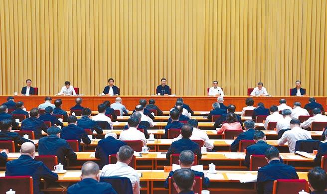 9月25日至26日,中共中央政治局七位常委皆出席會議。(新華社資料照片)