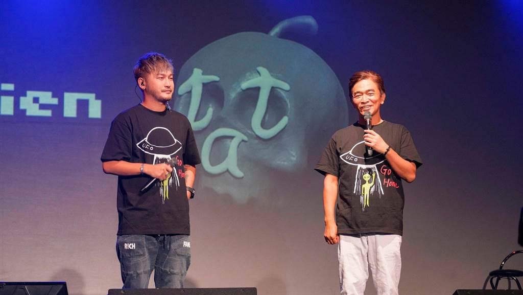 吳宗憲、KID一同主持音樂會。(滾石提供)
