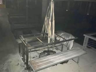 醉漢燒毀捷運站內的傘架桌椅  遭判刑1年2月