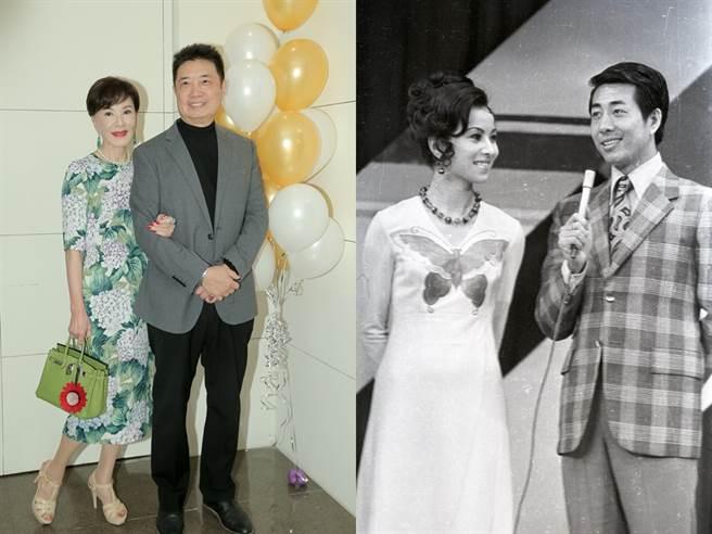 夏台鳳與兩任老公。左為現任夫何平南,右為鄒森。(圖/中時資料照)
