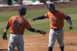 MLB》春天哥雙轟 太空人2連勝聽牌