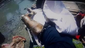 工人操作吊車慘遭電擊 全身50%燒燙燒搶救中