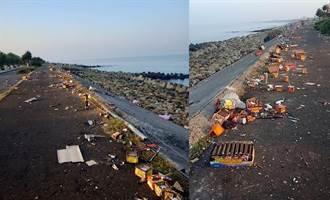 糗!台南垃圾滿地 紅到對岸被虧「與陸客無關」
