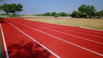 邱志偉爭取經費建跑道 大社國小學生可全力奔跑