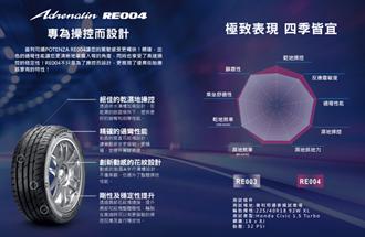 Bridgestone性能街胎POTENZA RE004發表 極致表現四季皆宜