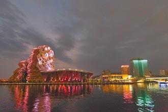 高流仿上海外灘 打造夜景燈光秀