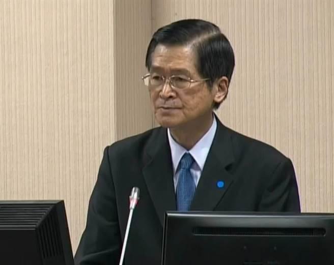 國防部長嚴德發今赴立院專案報告。呂昭隆翻攝