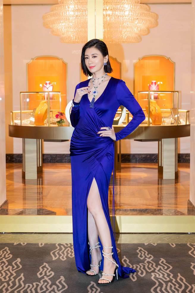 賈靜雯亮麗出席「寶格麗晶華酒店PETER MARINO形象概念店開幕記者會」。(圖/品牌提供)