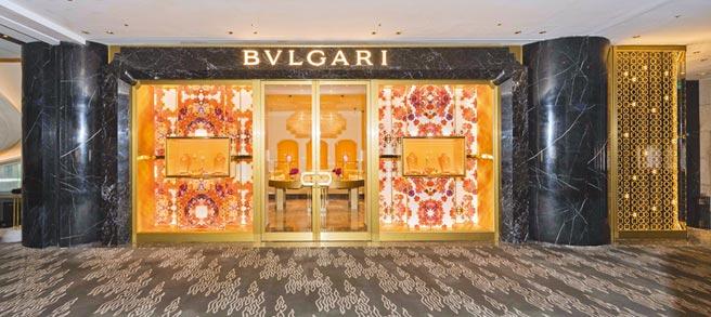 宝格丽全新PETER MARINO形象概念店落脚丽晶精品,充满愉悦欢乐的气氛。(BVLGARI提供)