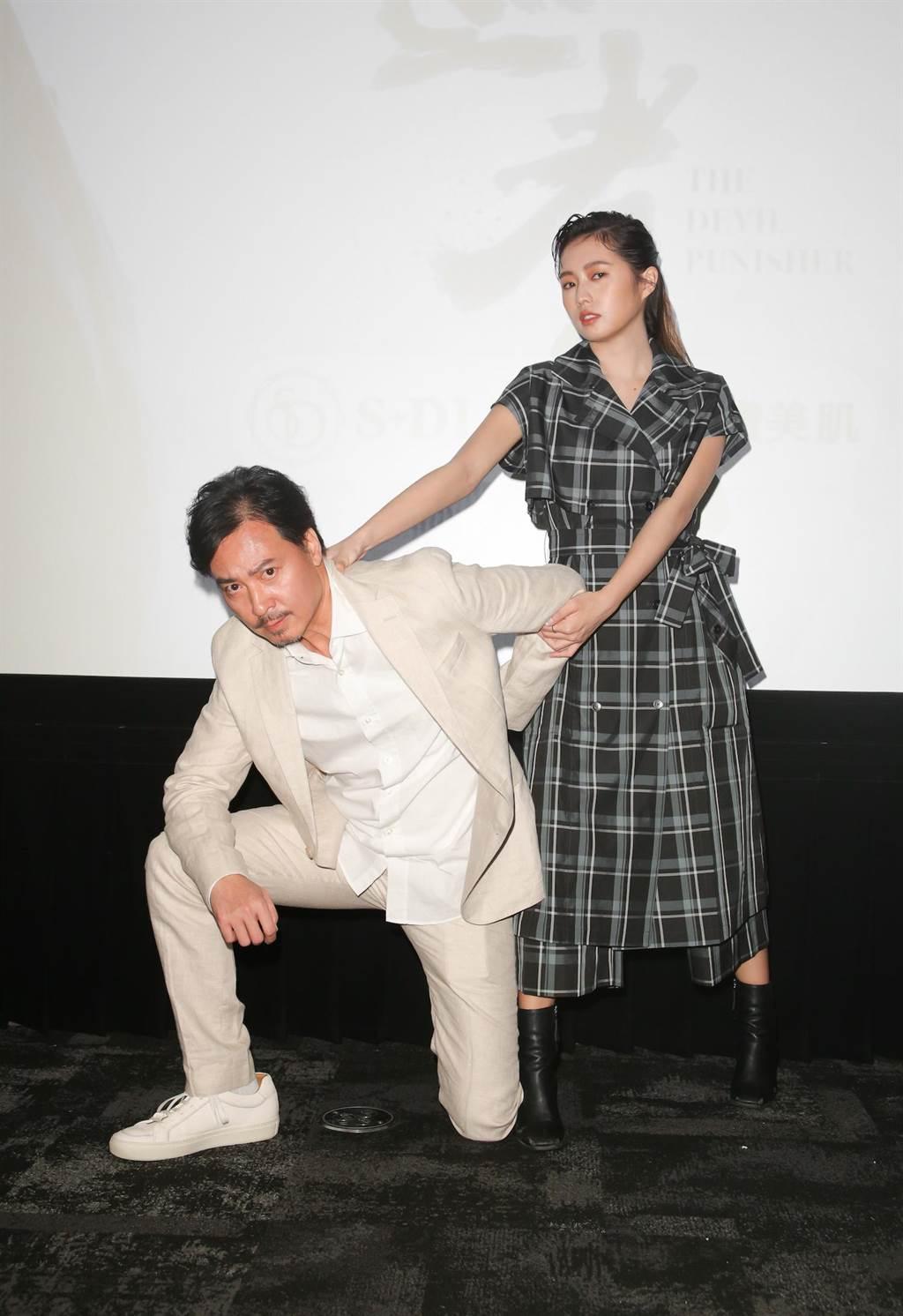 簡廷芮劇中與尹昭德有許多對手戲。(吳松翰攝)