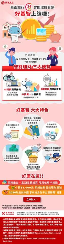 華南銀行智能理財「華南好基智」 穩住投資風險