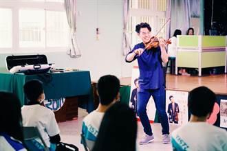 陳銳赴新竹 樂當一日音樂老師