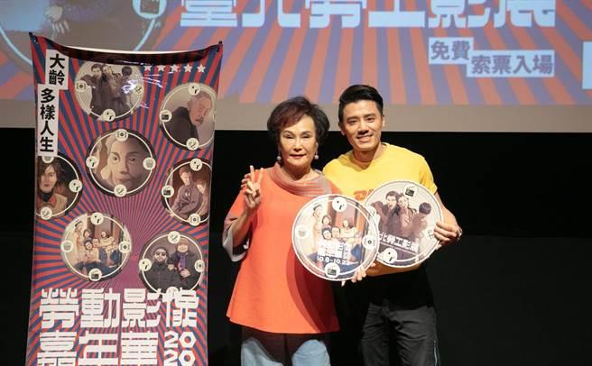 胡錦(左)今和邱志宇一同出席影展開幕活動。(希望行銷提供)