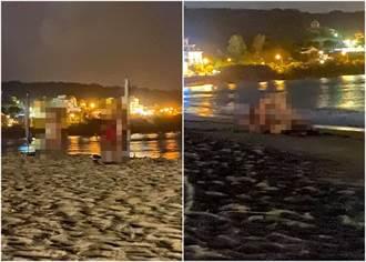 他手機夜拍墾丁南灣沙灘 驚見2男2女「全裸活春宮」 :是老外