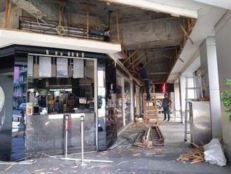 新竹市騎樓天花板崩塌 砸傷路過少女