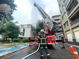 古蹟不能受損 桃園消防局在南崁兒童藝術村演練