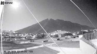 巨大火球自天而降 照亮墨西哥東北部夜空