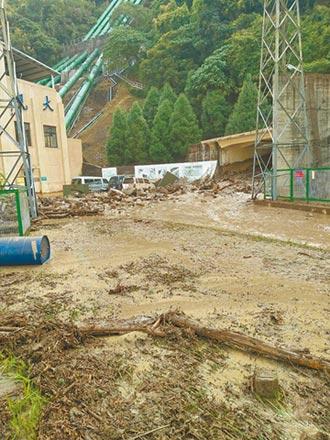 台電又凸槌 大觀電廠水管爆裂 泥流傾瀉