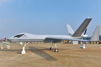 飛翼式無人機 陸踏上新征途