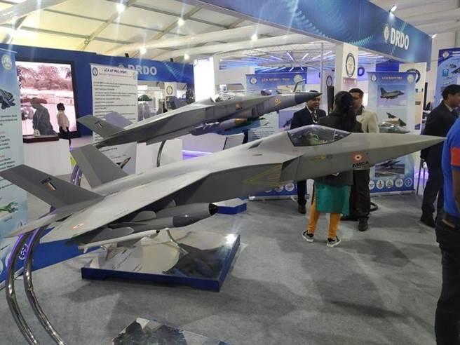 中印邊境緊張,印度要加速5代戰機AMCA研發,但預計要10後才能服役。(圖/推特@KalitaAbhinav1)