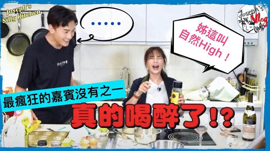 鄭元暢邀請Ella上節目展現廚藝。(M.I.E.最大國際娛樂提供)
