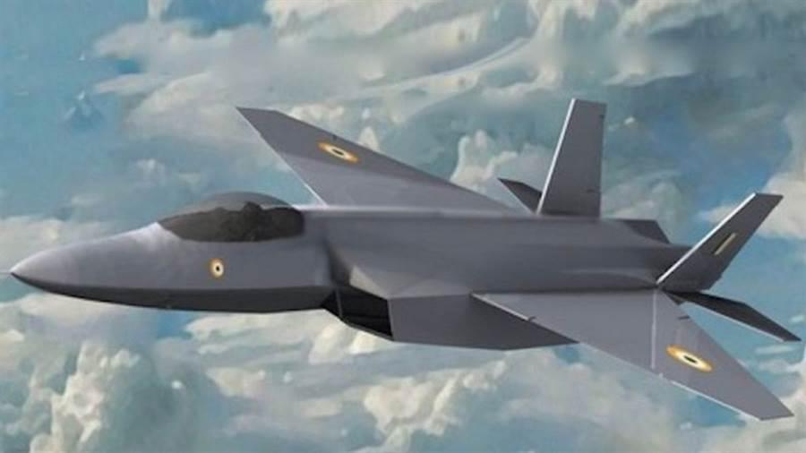图为印度AMCA第5代先进中型战机想像图。印度空军曾号称AMCA要追平F-22、超越歼-20。最新消息称要加快研发,预计在2030年左右服役。(图/推特@eurasia_times)