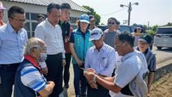 乾旱衝擊硬質玉米生長 陳吉仲訪嘉南關心災情