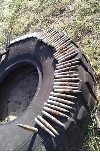 金門「戰地」安瀾湖 又出土大批鏽蝕步機槍彈