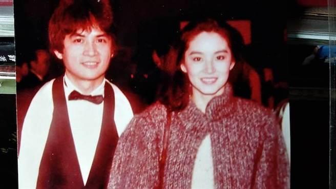 李小飞当年与林青霞合作拍电影。(李小飞提供)