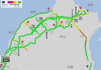 收假日國5雪隧 下午至晚間8時車速低於40公里