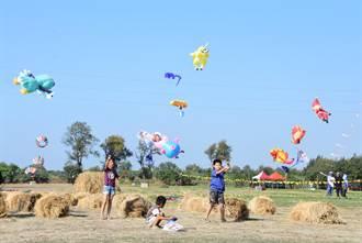 鎮長目睹女童捲上天 二林風箏節競技、親子隔開分區辦