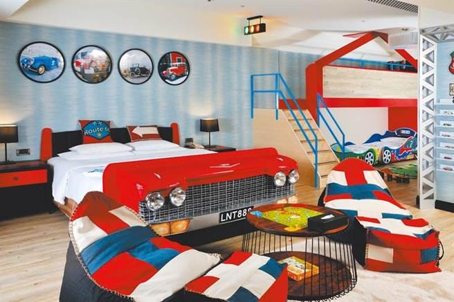 義大皇家酒店親子主題房共有6款風格套房。(義大皇家酒店提供)