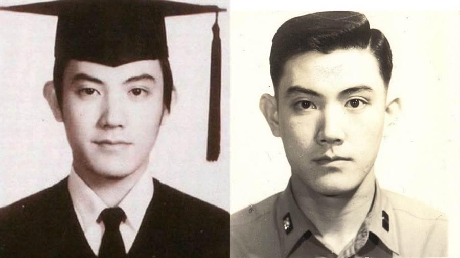 前總統馬英九年輕時的照片,曾在網路上掀起轟動。(圖/合成圖,取自Dcard)