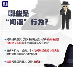 陸官媒推「反間諜」圖解教學 羅列8項間諜行為