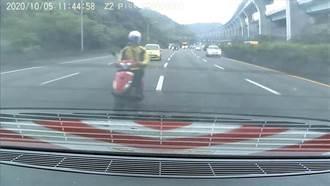 騎上國道釀10車連環撞 騎士依公共危險罪函送