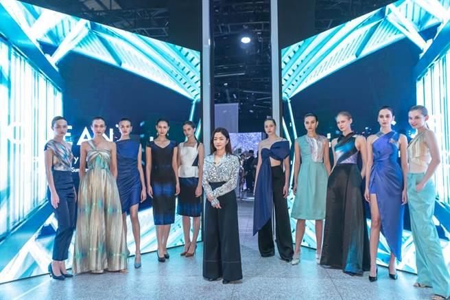 賴曼琳與品牌設計師C JEAN合作。(圖片來源:Romana提供)