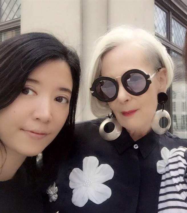 賴曼琳曾與美國時尚網紅AccidentalIcon合作。(圖片來源:Romana提供)