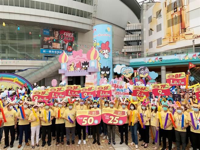 漢神兩館周年慶力拚51億目標,祭出百萬名車抽獎吸客。(柯宗緯攝)