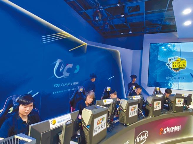 台北城市科大電腦與通訊工程系開設電競學程,課程多元,學生畢業後,可到電子遊戲產業、電視台或電競領域工作。(台北城市科大提供/李侑珊台北傳真)