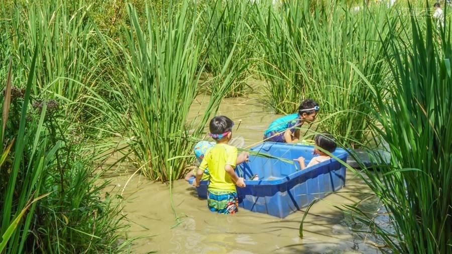 自然場域的設計,讓小朋友在玩的同時也能認識這塊土地。(圖/行遍天下提供)