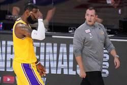 NBA》打敗熱火報仇 湖人教頭談論詹姆斯