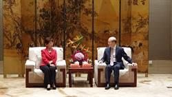 國台辦主任劉結一會見國民黨前主席洪秀柱