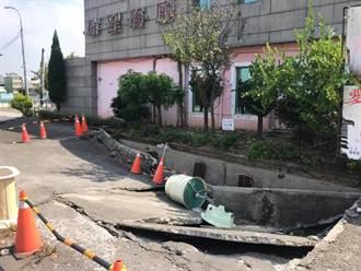 斗南道路坍半年未處理 民憂颱風影響渠道排水