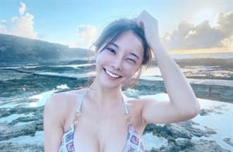 巫苡萱泡溫泉「曬X型美胸」蜜桃美尻洩私密刺青
