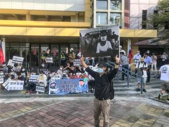 質疑空汙治理疏失 學生赴雲縣府吹哨抗議